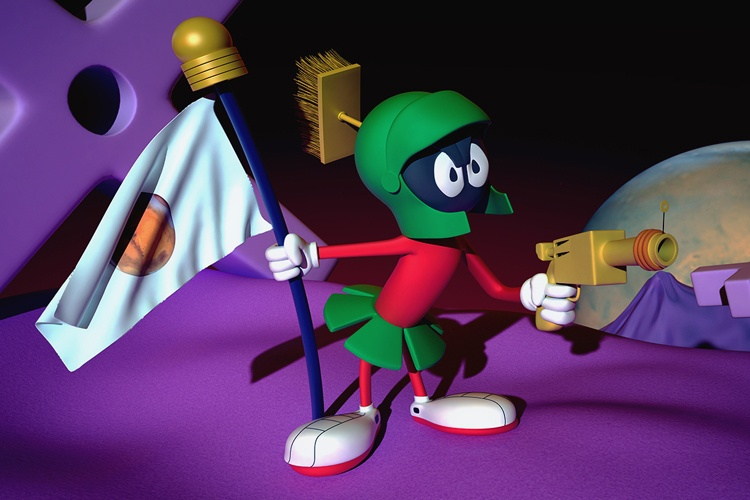 A 3D Graphic of the classic Warner Bros character Marvin the Martian