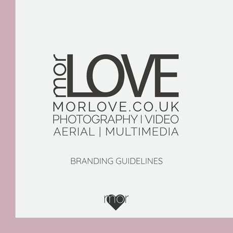 An image of the MorLove branding guidelines cover