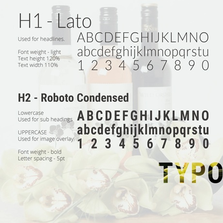 An image of the MorLove branding guidelines fonts