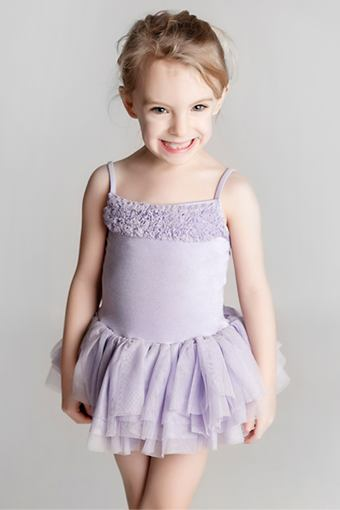 Young girl in ballet outfit